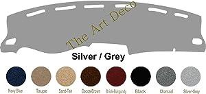 The ArtDeco Premium Carpet Dash Cover for 2014-2019 Toyota Tundra Custom Dash Cover (Silver (Grey))