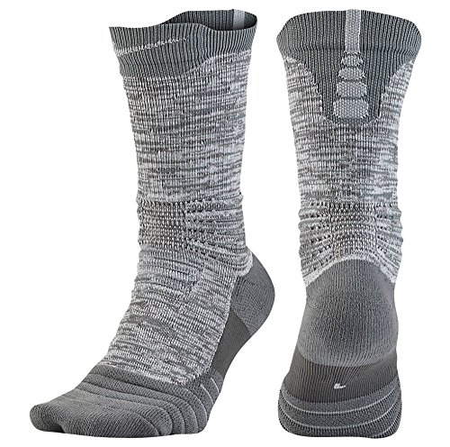 Nike Elite Versatility Crew Dri-FIT Socks Grey/Grey Large