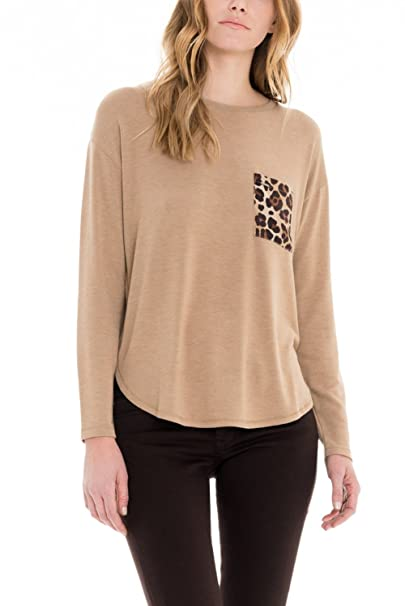 SALSA Camiseta manga larga con bolsillo animal print: Amazon.es: Ropa y accesorios