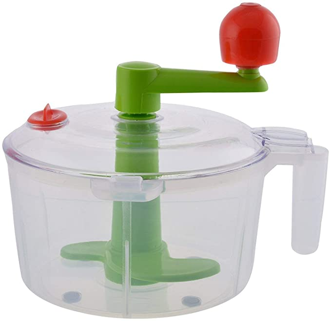 SS STORE Vegetable Chopper and Dough Atta Maker 2 in 1 Plastic Spiral Gadget Bucket  Multicolour