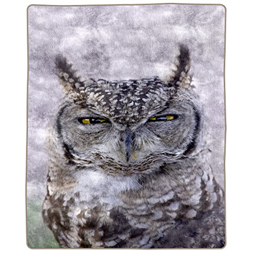 "Lavish Home Heavy Fleece Blanket with Owl Pattern 74"" x 91"""