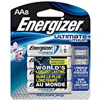 Energizer L91BP-8 Ultimate Lithium AA Batteries (paquete de 8)