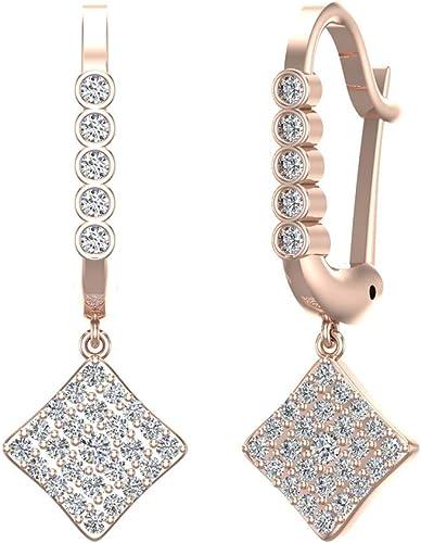 Gift for Her Dainty Drop Earrings Square Glass Bead Dangle Earrings Small Earrings Silver Plated Handmade Earrings