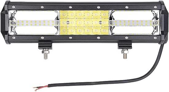 "Yescom 12"" 324W LED Light Bar Spot Flood Combo Beam Lights Bar IP67 Waterproof Compatible with Offroad ATV Vehicle"