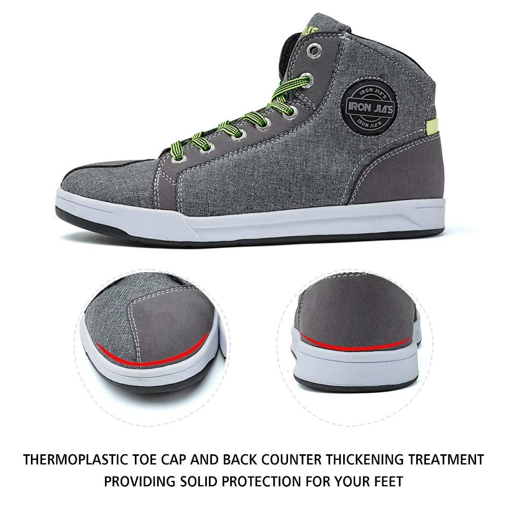 Moto Chaussures Hommes Accessoires d/écontract/és /Équipement de Protection Respirant Sport Chaussures antid/érapantes 43