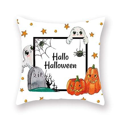 Fundas de almohada para otoño, Halloween, calabaza, funda de ...