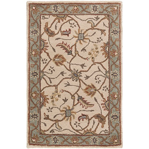 Surya Caesar CAE-1088 Classic Hand Tufted 100% Wool Dark Olive Green 2' x 3' Traditional Accent Rug