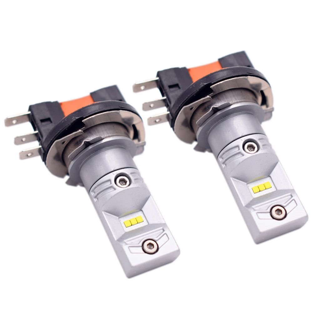 Topfire 2pcs//Lots White H15 30W CSP 6 LED Car Fog Light Auto Daytime Running Lamp Replacement Bulb