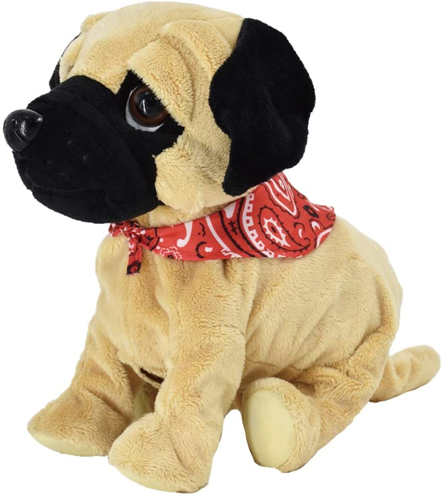 Weofferwhatyouwant Pug Daddy Plush Electronic Toy Dog Touch And Sound Plays Tricks Barks And Cuddles Toys Games