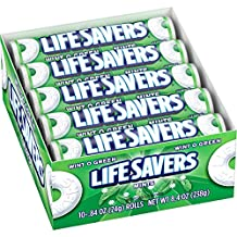 Lifesavers Hard Roll Wintogreen .84-Ounce 20 Units, 0.32-Kilogram