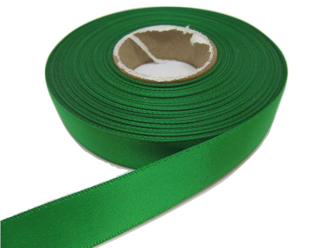 Beautiful Ribbon 1 rotolo di nastro di raso 15 millimetri x 25 metri Verde smeraldo luminoso a doppia faccia 15mm 15 mm