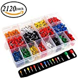 2120 Pcs 22-5AWG Assortment Crimp Connector Pin Insulated Cord End Terminal Bootlace Ferrules Kit Set Wire Copper by HittecH