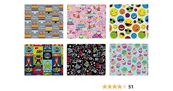 Gift Wrap 50 x 70cm Children Scenes 60er years tissue paper 3 Sheets Kids