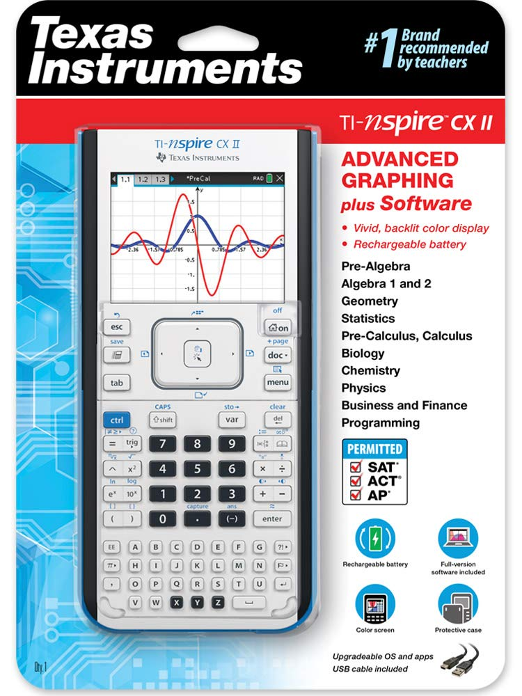 TI-Nspire CX II Color Graphing Calculator with Student Software
