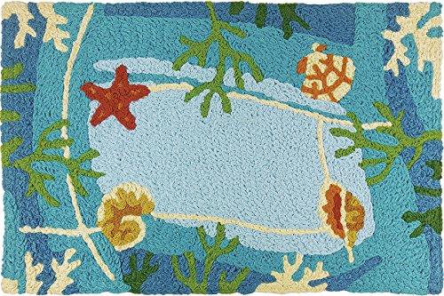 """Jellybean Underwater Coral & Starfish Indoor/Outdoor Rug 21"""""""