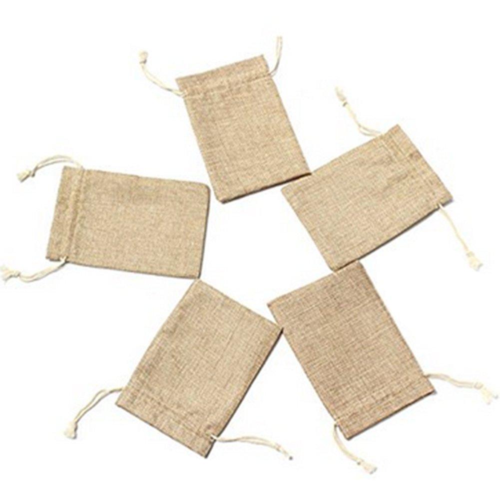 Laat Lote de 5 bolsas de lino con cordón para bisutería y ...