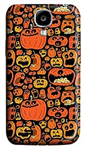 S4 Case, Samsung S4 Case, Customized Protective Samsung Galaxy S4 Hard 3D Cases - Personalized Halloween Pumpkins Cover