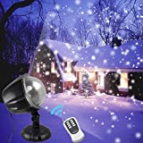 Snowfall LED Lights Waterproof Garden Lights Remote Control Landscape Lighting Christmas Projector Lights for Indoor Outdoor Wedding Party Holiday House Wall Decorations