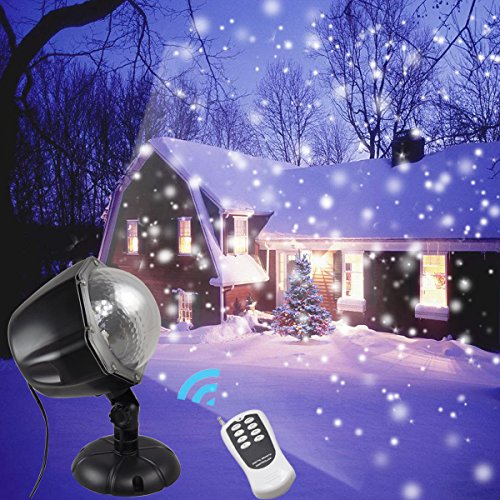 Waterproof Garden Lights Remote Control Landscape Lighting Christmas Projector Lights for Indoor Outdoor Wedding Party Holiday House Wall Decorations ()