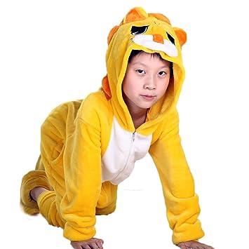 Ferrand Kigurumi Pijamas Unisexo Disfraz Animal Franela Para Niños Leona M