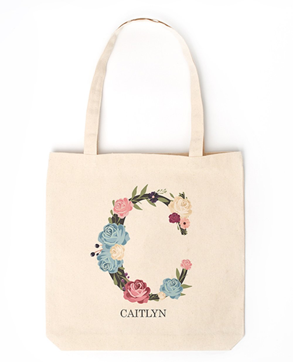 Personalized Monogrammed Tote Bags for Women - Unique Monogrammed Gifts for Women, Also A Gift for Mom (Letter C)