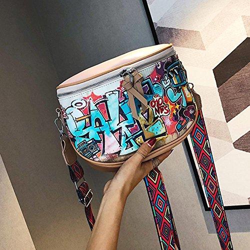 Mochilas Casual Mochilas Niñas Marrón Travistar Rojo Mujeres Bolsos Messenger Graffiti Handbags Claro Mujer Widewing Shoulder Cuero Rx4E1q