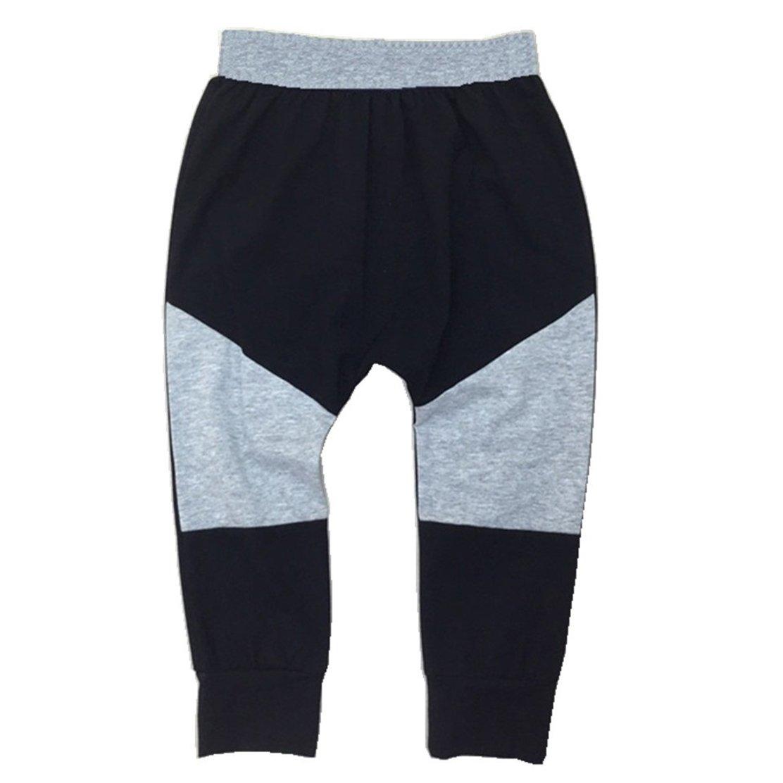 daqinghjxg 2018 New Patch Leggings Kids Cotton Long Trousers Children's Fashion Trousers Gray 3t