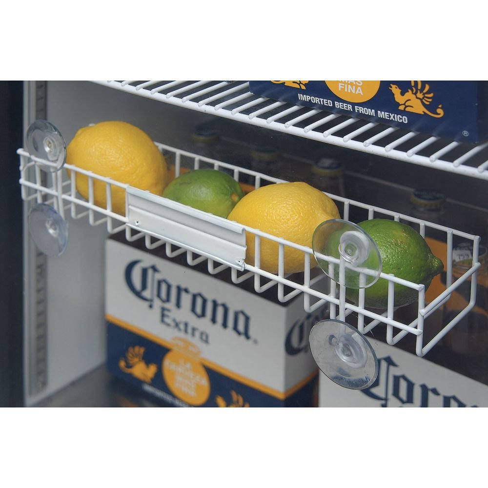 Cooler Refrigerator Rack For Lemons and Limes White Powder-Coated Steel - 13 5/8 L x 3'' W x 4 5/8 H by WIRECRAFT MANUFACTURING COMPANY