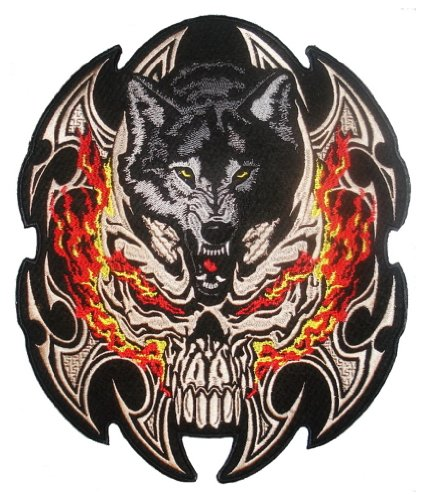 flamed-skull-wolf-back-patch-295cm-x-24cm-11-1-2-x-9-1-2-sew-on