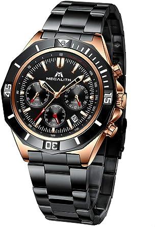 Bracciale orologi nero 10mm b498