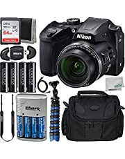 $349 » Nikon B500 Digital Camera (Black) with All-in-One Starter Bundle - Includes: SanDisk Ultra 64GB Memory Card, 4X Rechargeable Seller Replacement Batteries, Medium Size Carrying Case, and Much More