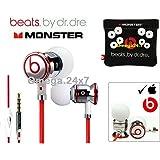 Beats by Dr. Dre Monster Écouteurs intra-auriculaires chromés avec étui Blanc
