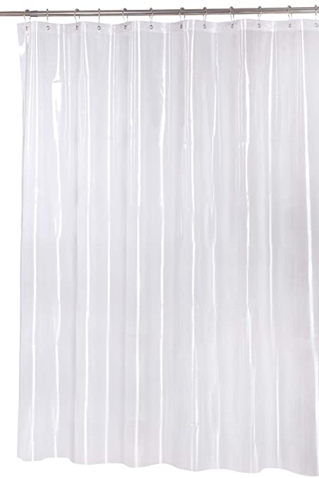 Premium 10 Gauge Heavy Duty Shower Curtain Liner