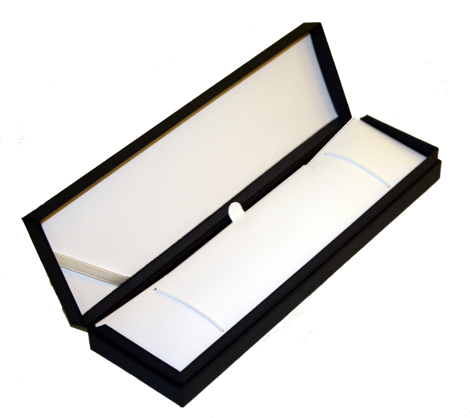 Matte Black Bracelet/Watch Display and Gift Box, Hinged Lid with Insert. 9.75' x 3.00' x 1.50' Hinged Lid with Insert. 9.75 x 3.00 x 1.50 Generic