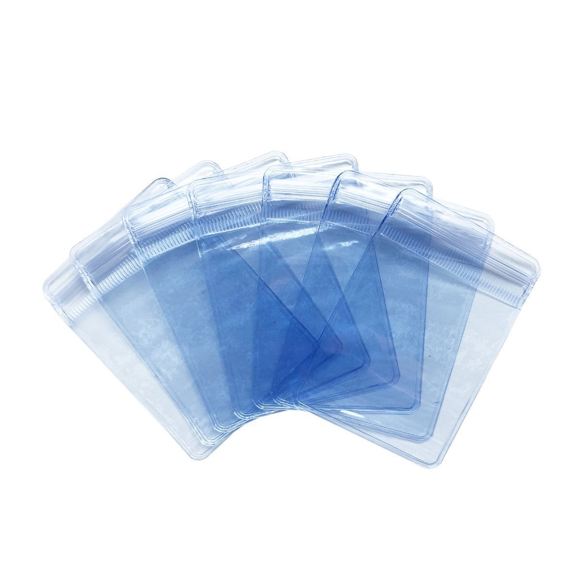 Jewelry Bag 100 PCS PVC Zipper Bags 2 x 2.8 INCH Transparent Jewellery Packaging Pouch Thick Airtight Storage Sack (2 x 2.8 INCH)