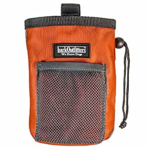 barkOutfitters Dog Treat Pouch – Bag Can Carry Snacks and Toys – Professional Quality Pouch Ava (Orange)