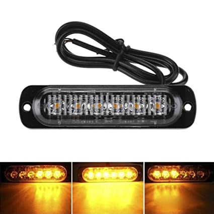 SALAMOPH 6 luces LED ámbar intermitentes de emergencia, luz ...