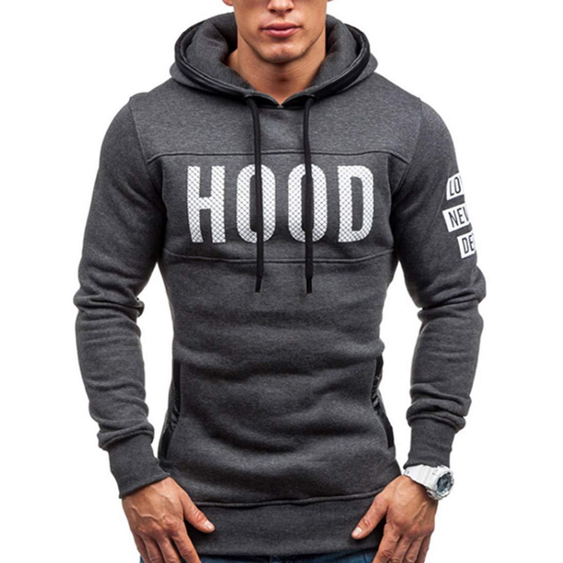 Aiweijia Mens Hooded Sweatshirts Spring Autumn Man Coat Outwear