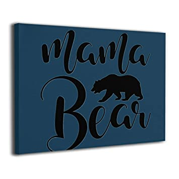 Amazon.com: Baker Back Mama Bear Painted Canvas Prints for ...