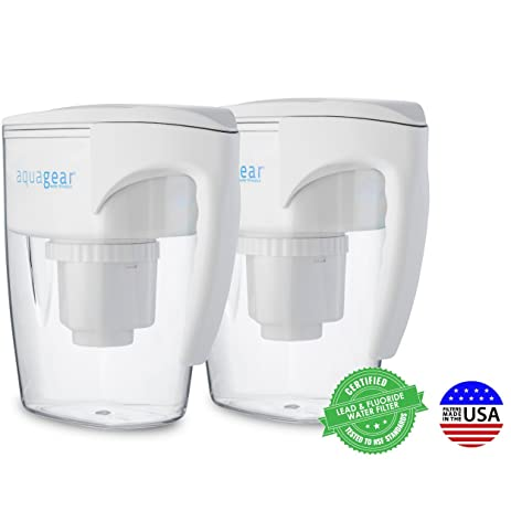 Aquagear Water Filter Pitcher   Fluoride, Lead, Chloramine, Chromium 6  Filter   Nice Ideas