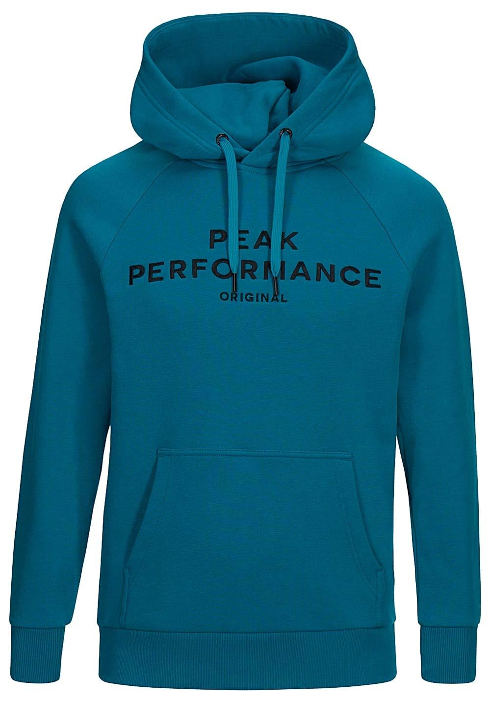 Peak Performance Logo Hood Deep Aqua