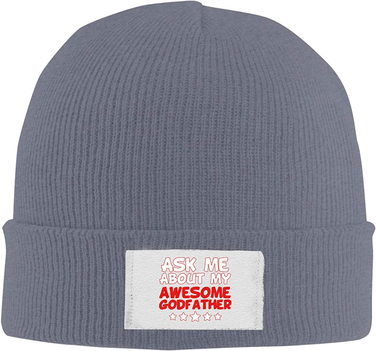 Paller My Awesome Godfather Knitted Hat Winter Outdoor Hat Warm Beanie Caps for Men Women