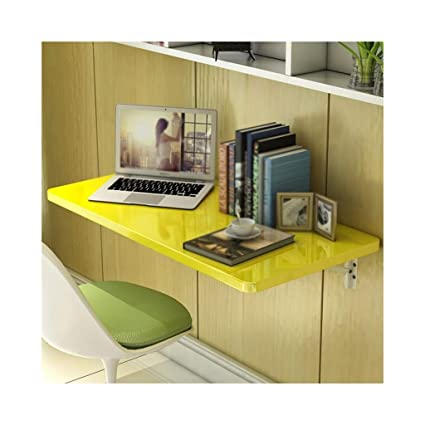 f288f2420bd536 Workspace Organizer Wall-Mounted Computer Desk, Modern Minimalist Desk,  Collapsible Dining Table, (Color : Yellow, Size : 60 * 40cm): Amazon.ca:  Home & ...