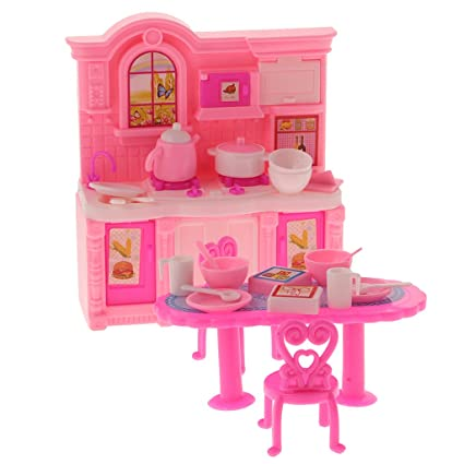 Amazon Com Jili Online 16 Pieces Dollhouse Miniature Kitchen Set