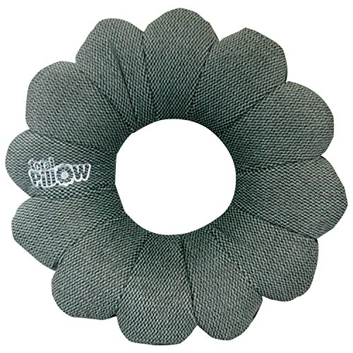 Total-Pillow-Microbead-Portable-Pillow-2017-Exclusive-Design-Use-at-Home-or-On-The-Go-To-Support-Your-Neck-Back-and-Knees-Classic-Slate