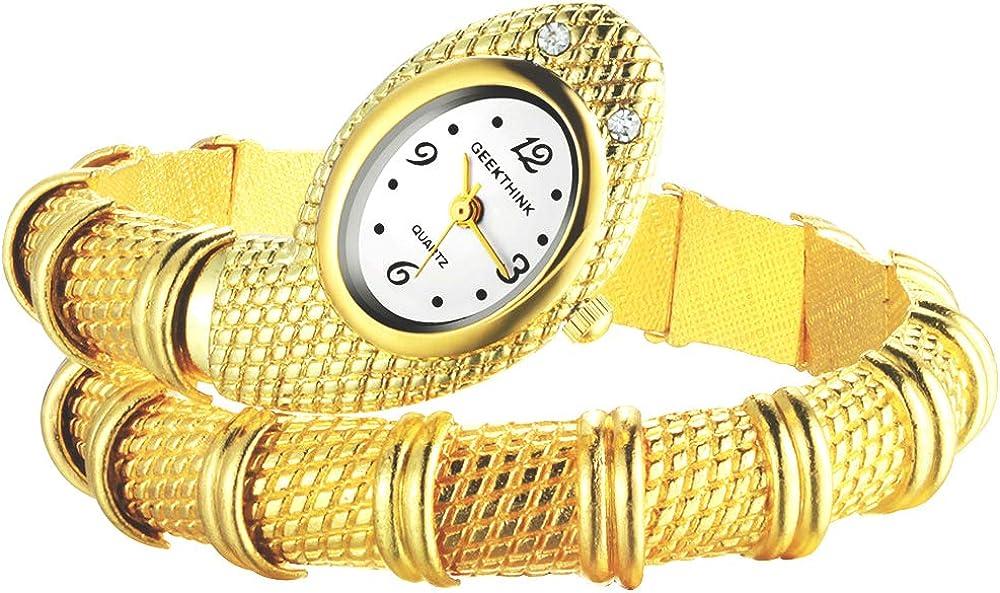 Relojes Pulsera Serpiente Dorado Relojes Mujer Acero Inoxidable Moda