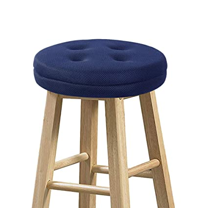 Astounding Baibu Super Breathable Round Bar Stool Cover Seat Cushion Navy Blue 14 Bralicious Painted Fabric Chair Ideas Braliciousco