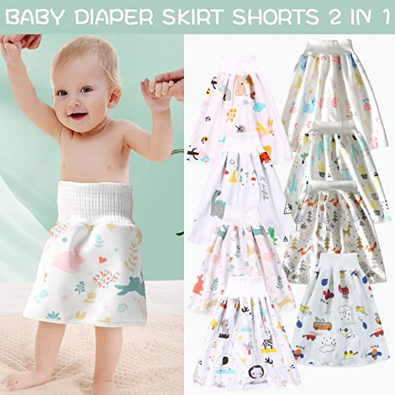 WooCo Waterproof Skirt Shorts Dresses Pants for Cloth Diapers Waterproof Clothes for Baby Sleeping Potty Training 0~8T