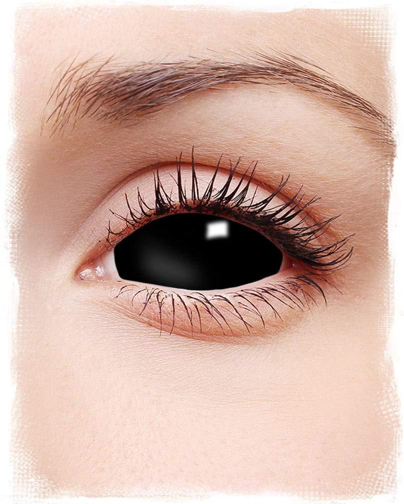 Lentes de contacto esclerótica negro: Amazon.es: Juguetes y ...
