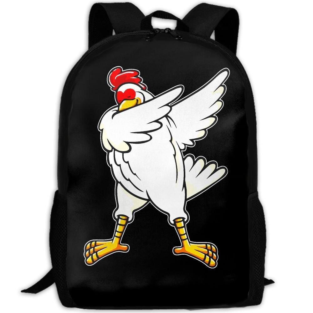 Funny Chicken DAB Dabbing Chicke interest印刷カスタムユニークカジュアルバックパックスクールバッグ旅行用デイパックギフト   B078WK8YZT